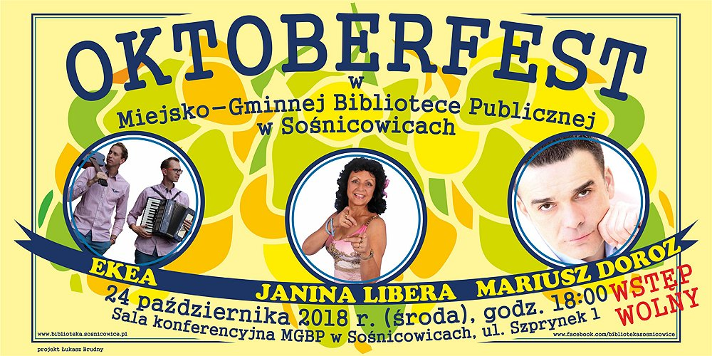 OKTOBERFEST w MGBP w Sośnicowicach - plakat