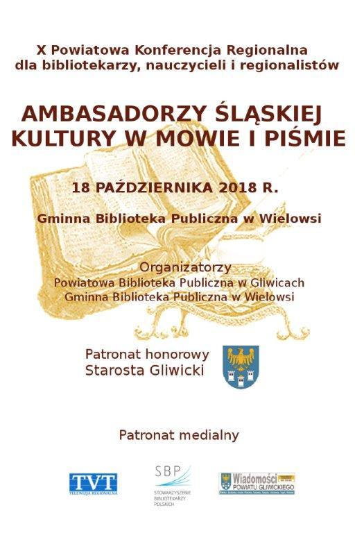 X Powiatowa Konferencja Regionalna dla  bibliotekarzy, nauczycieli i regionalistów - plakat
