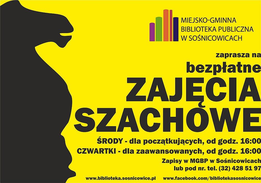 ZAJĘCIA SZACHOWE - plakat