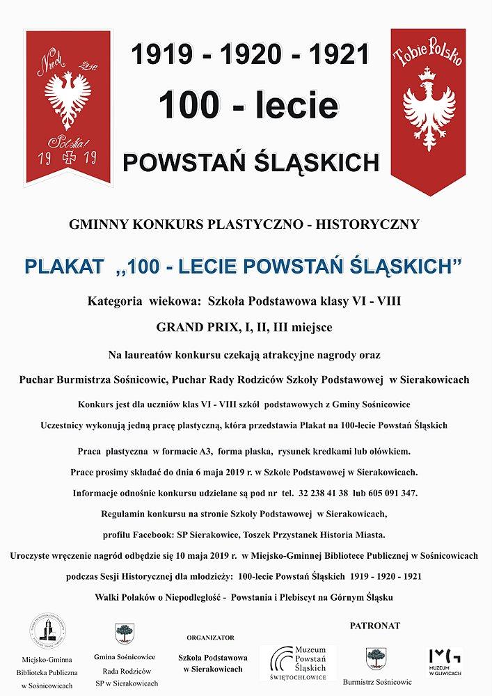100-lecie POWSTAŃ ŚLĄSKICH - plakat