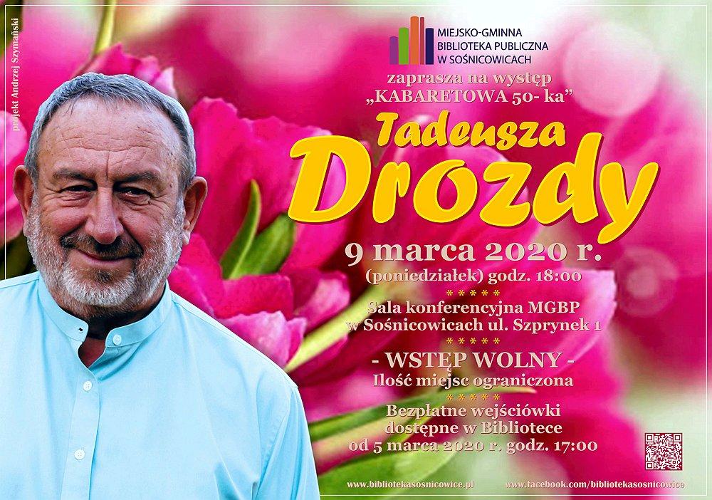 KABARETOWA 50-ka TADEUSZA DROZDY - plakat
