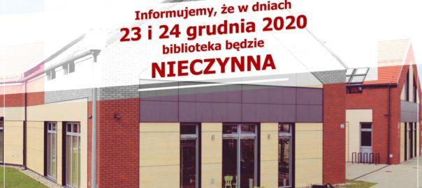 Zamknięcie Biblioteki Grudzień 2020_Internet